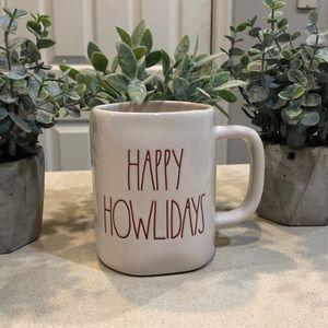 rae dunn happy howlidays mug
